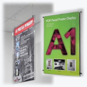 Acrylic Poster Displays – Wallmounted and Hanging