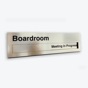 Sliding Door Meeting Room Sign Designation