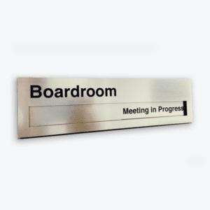 office door signs meeting in progress