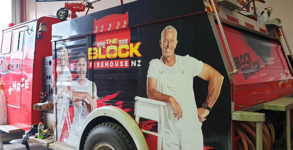 The Block NZ-Fire Engine Wrap